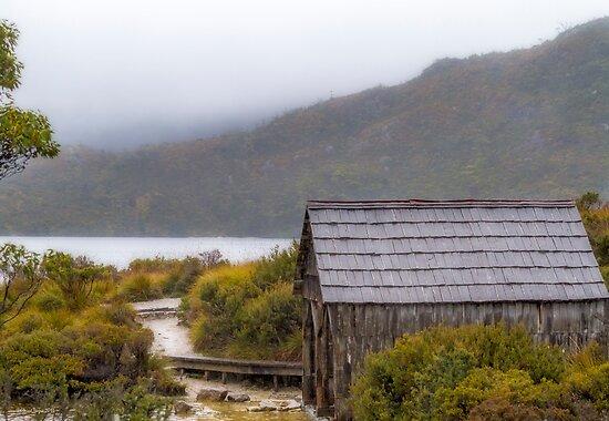 Dove Lake Boat Shed, Tasmania #2 by Elaine Teague
