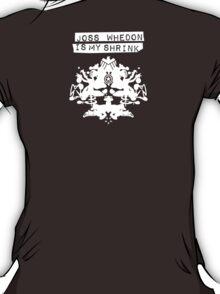"""""""Joss Whedon Is My Shrink"""" - Light T-Shirt"""