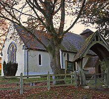 Country church at Bramdean by Judi Lion