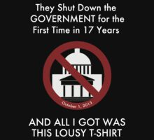 Government Shut Down T-shirt by Samuel Sheats