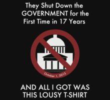 Government Shut Down T-shirt by Samuel Sheats