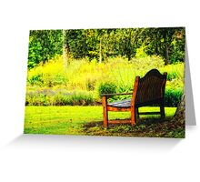 Come and sit with me. Greeting Card
