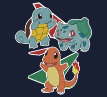 Pokemon 3 Starters by jeice27
