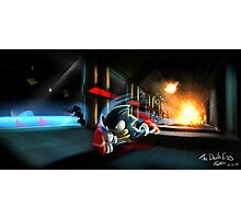 Escape the Death Egg Sonic Photographic Print
