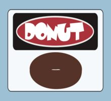 ICED FROSTED DONUT, FUNNY DANGER STYLE FAKE SAFETY SIGN Kids Clothes