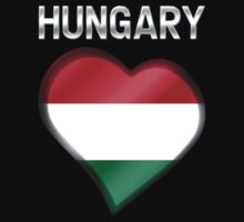 Hungary - Hungarian Flag Heart & Text - Metallic by graphix