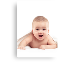 Four Month Old Baby Boy with Joyous Expression art photo print Canvas Print