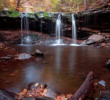 Autumn Trickle Over Oneida Falls by Gene Walls