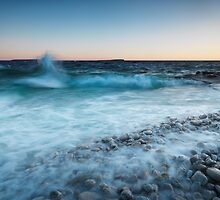 Waves hitting the shore of Georgian Bay art photo print by ArtNudePhotos