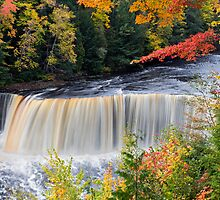 Michigan's Tahquamenon Falls in Autumn by Kenneth Keifer