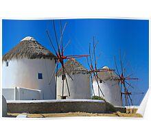 Windmills of Mykonos Poster