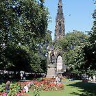 Scott Monument in Princes Street Gardens, Edinburgh by Pat Millar