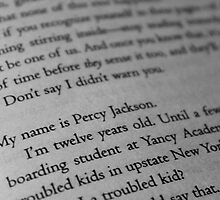 My name is Percy Jackson. by ElinCST