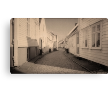 The Streets of Norway  Canvas Print