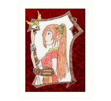 Ginny Weasley Cartoon Art Print