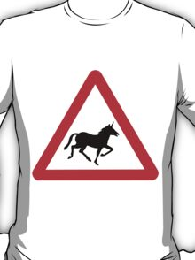 Unicorn Road Sign T-Shirt