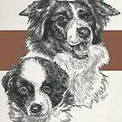 Border Collie Father & Son by BarbBarcikKeith