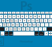 Photoshop Keyboard Shortcuts Blue Opt+Shift+Cmd by Skwisgaar
