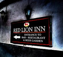 Red Lion Inn Sign by Andrew Pounder