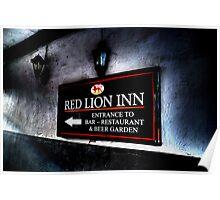 Red Lion Inn Sign Poster