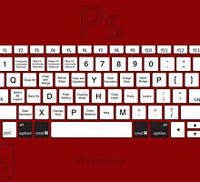 Photoshop Keyboard Shortcuts Red Opt+Cmd by Skwisgaar