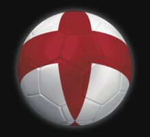 England - English Flag - Football or Soccer 2 by graphix