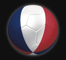 France - French Flag - Football or Soccer 2 by graphix