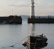 Newhaven Harbour and Lighthouse by Pat Millar