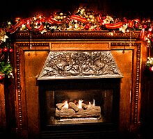 Christmas Fireplace by Joann Copeland-Paul