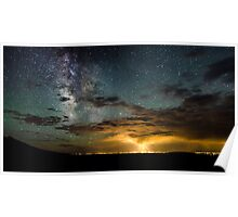 Milky Way Over the Storm - Great Sand Dunes National Park, Colorado Poster