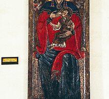 Pittoro Abruzzei Madona in Trono w Bambino 1270 1280 in Castello L'Aquila 198404080004  by Fred Mitchell