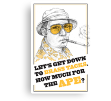 FEAR AND LOATHING IN LAS VEGAS- HUNTER S. THOMPSON Canvas Print
