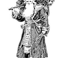 Victorian Santa Brings Christmas Presents and Christmas Trees in Christmas Long Ago. by digitaleclectic