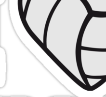 I Love This Game Volleyball Logo Sticker