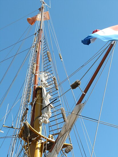 Fluffy Bags to protect rigging etc., Tall Ships Festival. by Rita Blom
