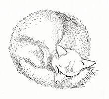 Fox Sleeping by AimeeSmith