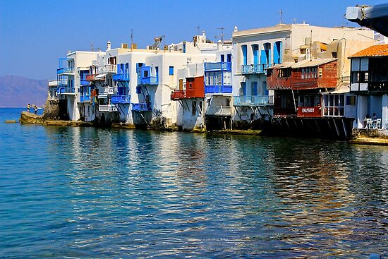 Little Venice, Mykonos Town by Barbara  Brown