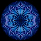 Blue Running Lines Kaleidoscope 002 by fantasytripp