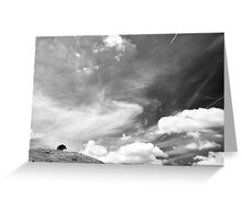Standing among clouds  Greeting Card