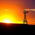 Windmill Sunset by deleas