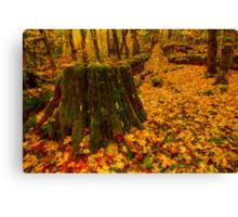 Fall Leaves Mosaic Canvas Print