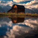 Mormon Row Barn Reflection  by KellyHeaton