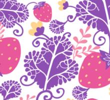 Yummy strawberries pattern Sticker