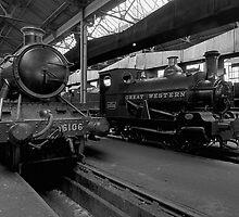 Steam Locomotive B&W III by Simon Lawrence