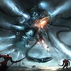 Mech Dragon Battle by AlexRuizArt