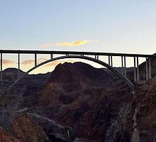 Hoover Dam Bypass Bridge by Eleu Tabares
