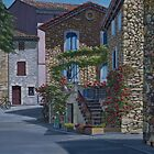 A Spring day in Aurel, France by Freda Surgenor