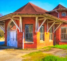 Marshallville, Georgia Train Depot by Mark Tisdale