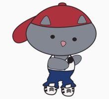 Rapper Cat in Tank Top Kids Clothes