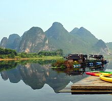A Home On The Li River, Yangshuo. China by Ralph de Zilva